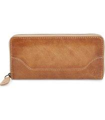 women's frye melissa leather wallet - beige