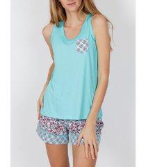 pyjama's / nachthemden admas spring hippy pyjama shorts tank top