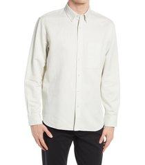 men's club monaco slim fit twill button-down shirt, size xx-large - white