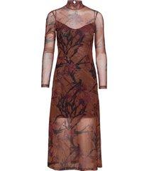 hanna nolina dress maxiklänning festklänning brun allsaints