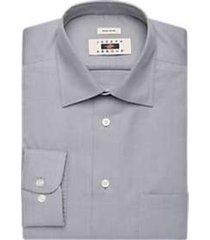 joseph abboud charcoal woven circle pattern dress shirt