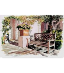 "david lloyd glover 'sun bench hotel bel air' canvas art - 12"" x 19"""