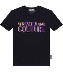 -flock gedrukte t-shirt