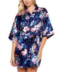 icollection ella floral print satin wrap robe, online only