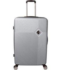 mala de bordo padrão anac em abs - santino - 19 polegadas -  prata