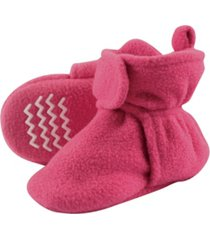 hudson baby - toddler boys and girls cozy fleece booties