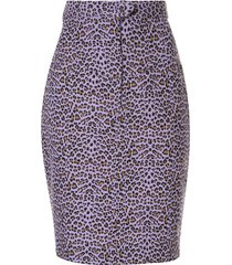 bambah leopard print skirt - purple