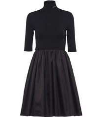 prada re-nylon gabardine dress - black