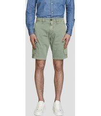gabardine cargo shorts