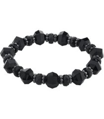 2028 black-tone beaded stretch bracelet