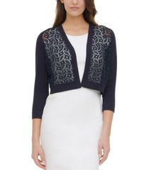 tommy hilfiger lace-front cardigan