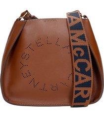 stella mccartney shoulder bag in brown faux leather