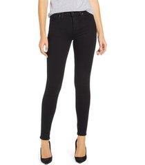 hudson jeans nico super skinny jeans, size 28 in black at nordstrom