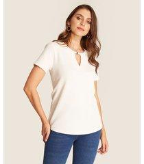 camiseta manga corta unicolor