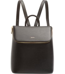 dkny bryant leather top zip backpack