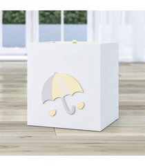 lixeira bebe branco chuva de amor amarelo grão de gente amarelo