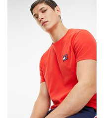 t-shirt manga corta rojo tommy jeans