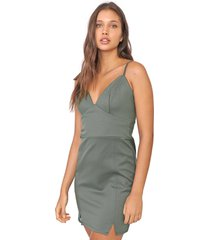 vestido my favorite thing(s) curto pespontos verde - verde - feminino - poliã©ster - dafiti