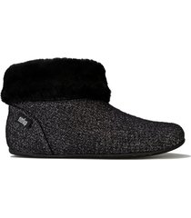 womens sarah shearling glimmer bootie slippers