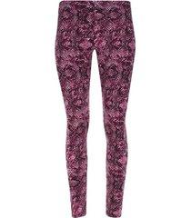 leggings sport escamas purpura color rosado, talla l