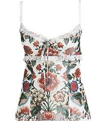 siria bustier floral top