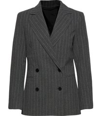 2nd brook pinstripe blazers business blazers grå 2ndday
