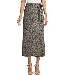 layered polka dot side tie skirt