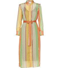 dress w. ruffles stroke print w. lu knälång klänning multi/mönstrad coster copenhagen