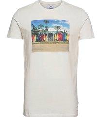 print tee t-shirts short-sleeved beige kronstadt