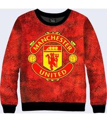 2017 manchester united 3d  simbol sign  sveatshirt pullover  new.  2017 manchest