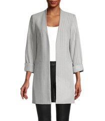 calvin klein women's open-front jacket - grey - size 4