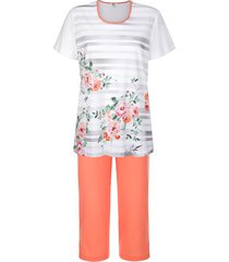 pyjama cybèle wit::apricot::pink