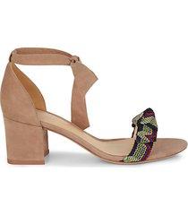 clarita suede ankle-tie sandals