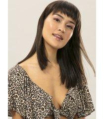blusa cropped com laço estampa jaguar - lez a lez