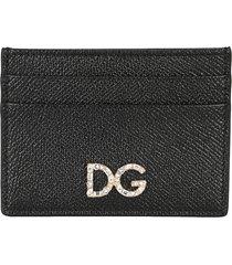 dolce & gabbana dauphine calfskin credit card holder