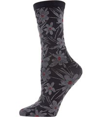 natori women's abstract floral crew socks