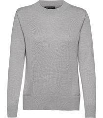 silk cashmere relaxed sweater gebreide trui grijs banana republic