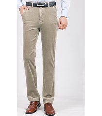 mens fall winter thick warm velluto a coste tinta unita casual business straight pantaloni
