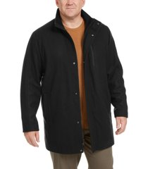 calvin klein men's big & tall long open bottom car coat