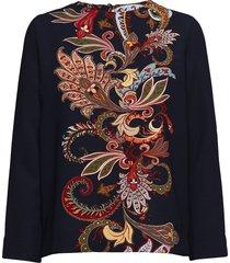 prose blouse lange mouwen zwart libertine-libertine