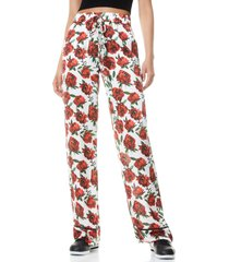 women's alice + olivia meera pajama pants, size large - red