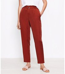 loft paperbag pull on pants in soft twill