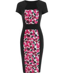 high waist slim cherry print dress
