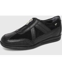 zapato cuero negro 16hrs