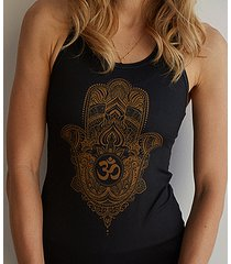 bright boho tank top hamsa gold