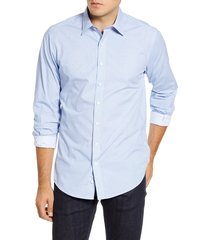men's rodd & gunn pinehill regular fit sport shirt, size xxx-large - blue