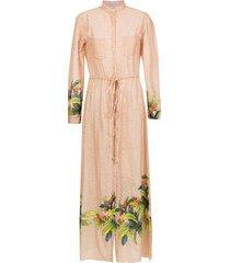 amir slama printed beach dress - neutrals