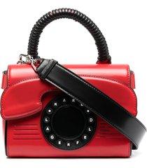 karl lagerfeld ikon telephone tote - red