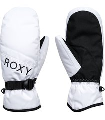 women's roxy jetty solid snow mittens, size x-large - white