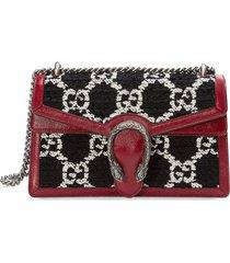 gucci dionysus gg tweed small shoulder bag - red